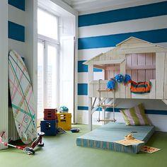 Children's bedroom   Pattern   Playhouse bed   Stripe   Modern   Livingetc