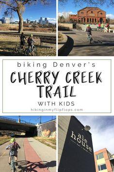 Denver's best urban biking experience. What you need to know before biking the Cherry Creek trail with the kids. (Denver biking trails) #kids #Denver #Colorado #biking