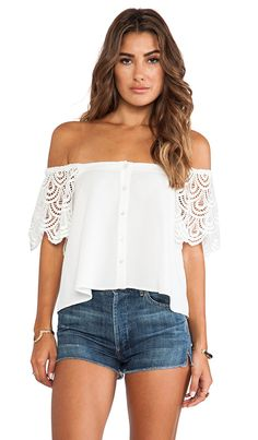 Ivory On or Off the Shoulder Blouse