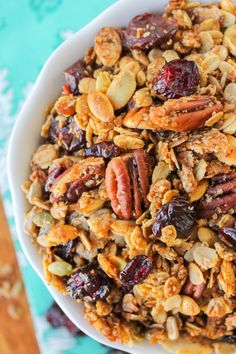 Maple Pecan Granola with Cherries - The Food Charlatan