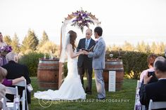 A great arbor over the ceremony Thomas Fogarty Winery | Carmen Alvarez Photography