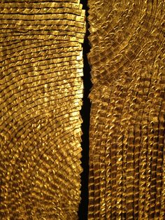 Gold, Olga De Amaral, Places Nohra Haime Gallery, 730 Fifth Ave, NYC