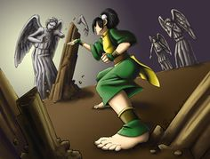 Toph vs Weeping Angels. that would be fun!