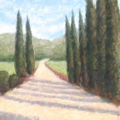 Sentinels Original Art Pastel Landscape Painting by pswyatt
