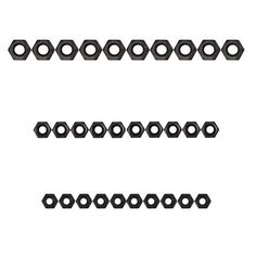 M2.5 + M3 + M4 Metal Hex Nuts - Black . Color Black Material Carbon steel Quantity 1 Set Compatible Model No Packing List 10 x M2.5 Metal Hex Nuts 10 x M3 Metal Hex Nuts 10 x M4 Metal Hex Nuts. Tags: #Hobbies #Toys #R/C #Toys #Other #Accessories