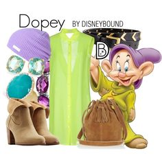 Dopey by leslieakay on Polyvore featuring Gold Case, UGG Australia, Warehouse, Towne & Reese, Kate Spade, 1928, Neff, Express, disney and disneybound