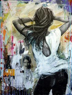 Paint Photography, Portrait Photography, Cecile, Beautiful Drawings, Street Art Graffiti, Beauty Art, Urban Art, Figurative Art, Female Art
