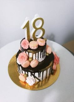 Custom Cakes offers wedding, dessert, party and all-occasion cakes. Birthday Cake 30, Music Birthday Cakes, Birthday Snacks, Adult Birthday Cakes, Birthday Cake Designs, 18th Birthday Party Ideas For Girls, 18th Party Ideas, 18 Birthday Party Decorations, 18th Birthday Party Outfit