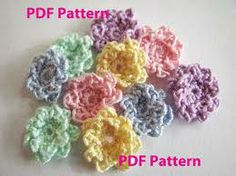 miniature crochet flower patterns free - Google Search