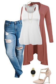 Work those curves this Spring! Visit outfitsforlife.com to find out where to snag these items at a steal and for even more cute outfit inspo! #outfitsforlife #ofl #springoutfits #curvyoutfits #plussizeoutfits