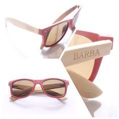 Gafas BARBA cereza   Color y bambú a tu vida !  Www.ingeniousmind.co