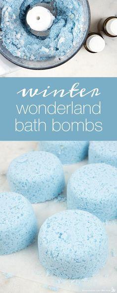 DIY Skin Care Recipes : How to Make Winter Wonderland Bath Bombs