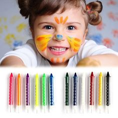 Baby Kids 6 Color Face Body Painting Crayon Kit Set Sticks Party Wedding Kids Child Drawing Toys Gift FCI# - Kid Shop Global - Kids & Baby Shop Online - baby & kids clothing, toys for baby & kid Pintura Crayon, Crayon Set, Baby Shop Online, Color Kit, Painted Sticks, Child Face, Body Makeup, Wedding With Kids, Baby Kind