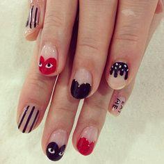 COMME DES GARCONS nails