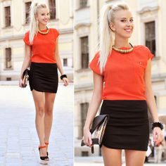 Black & Orange (by Meri Wild ♥) http://lookbook.nu/look/3952912-Black-Orange