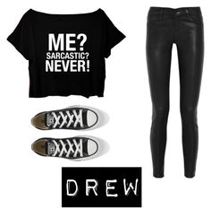"""""""drew"""" by ka-vip on Polyvore featuring J Brand and Converse"""