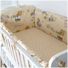 42.80$  Watch now - http://alia7g.worldwells.pw/go.php?t=32367108395 - Promotion! 6PCS Bear crib bedding printed cotton baby bedding set/ child duvet cover / kids set (bumper+sheet+pillow cover) 42.80$
