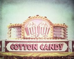 Cotton Candy Popcorn Carnival Circus Food by PaintedTulipStudio Circus Photography, Artistic Photography, Fine Art Photography, Circus Food, Cool Wall Decor, Candy Popcorn, Cotton Candy, Signage, Fine Art America