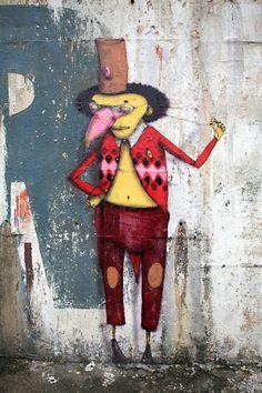 Geo Street art – street artists Os Gemeos in Brazil, by Window Seat.