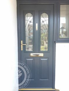 More great examples of fitted Solidor Composite doors by Timber Composite Doors, all available as for both DIY and Fully professionally fitted, design yours now online for free at the link below Grey Window Frames, Grey Windows, House Windows, Facade House, Windows And Doors, Grey Front Doors, Front Door Colors, Porch Timber, Composite Front Door