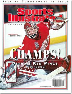2001-02 Detroit Red Wings Stanley Cup Sports Illustrated commemorative edition magazine cover