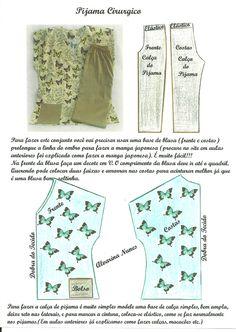 Costura e Modelagem Baby Girl Dress Patterns, Baby Clothes Patterns, Dress Sewing Patterns, Clothing Patterns, Blazer Pattern, Jumpsuit Pattern, Pants Pattern, Costura Fashion, Sewing Sleeves