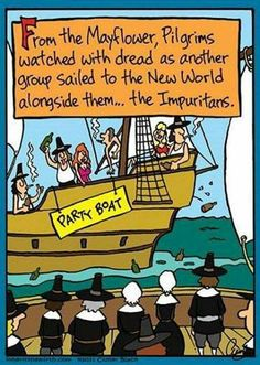 The Impuritans definitely look like more fun! (From Episcopal Church Memes) Thanksgiving Cartoon, Thanksgiving Quotes Funny, Thanksgiving Messages, Happy Thanksgiving, Thanksgiving Crafts, Religious Humor, Christian Memes, Christian Christian, Trending Memes