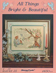 Leaflet  35 All Things Bright & Beautiful - Stoney Creek cross stitch