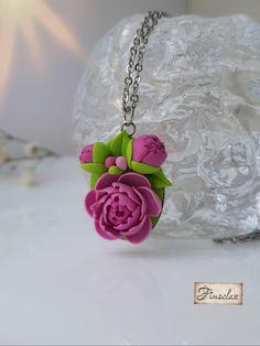 """Set """"povestea bujorului """" - Fimoclas Earrings, Jewelry, Fashion, Ear Rings, Moda, Stud Earrings, Jewlery, Jewerly, Fashion Styles"""
