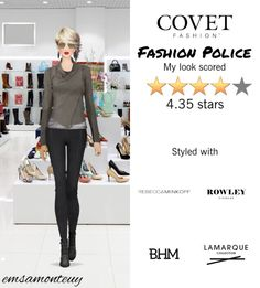 Fashion Police @covetfashion #covet #covetfashion #covetfashionapp #fashion #covetfall2015 #fall2015 #womensfashion #Frye #RebeccaMinkoff #LaMarque #RowleyEyewear #BrooklynHeavyMetal