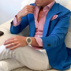 In getting the best casual outfits, man has to been logical. These casual outfits below would give you a clue of what you should go for. Blazer Outfits Men, Best Casual Outfits, Mens Fashion Blazer, Suit Fashion, Stylish Men, Men Casual, Herren Outfit, Fashion Mode, Korean Fashion
