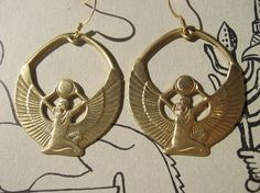 HOLY GODDESS ISIS Earrings by themoonandthesea on Etsy, $16.00