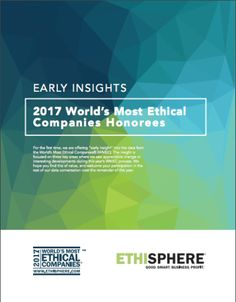 World's Leading Ethical Companies 2017