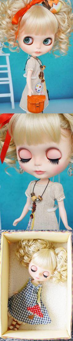 **Saranのブラ子**カスタムブライス No 23 - ヤフオク! Big Eyes, Doll Patterns, Blythe Dolls, Beautiful Dolls, Fascinator, Art Dolls, Little Girls, Crochet Hats, Princess Zelda