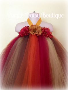 Fall Themed Full Length Tutu Dress  Perfect by PurpleDaisyBoutique, $65.00