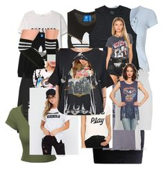 """Untitled #4"" by ariadae on Polyvore featuring Zoe Karssen, MANGO, Topshop, WearAll, Miss Selfridge, adidas Originals, Billabong, Ten-Sixty Sherman, Junk Food Clothing and Clayton"