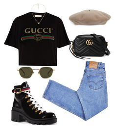 """Untitled #5792"" by lilaclynn ❤ liked on Polyvore featuring Gucci, Levi's and gucci"