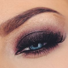 A fall inspired smokey pink eye I've created for an upcoming tutorial.
