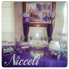 First communion candy table