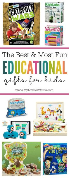 Shh... don't tell the kids but learning can actually be fun! These are some of the best most fun and educational gifts for kids!  #educationalgiftsforkids #stem #steam #homeschooling #homeschoolingkindergarten #homeschoolingpresschool #homeschoolingforbeginners