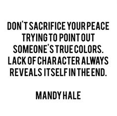 how true. keep your peace.