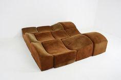 Bernard Govin, Asmara Modular Sofa, 1966 Demisch Danant