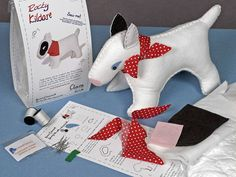 Rocky Kildare Bull Terrier Felt Sewing Kit Sewing Kit, Sewing Toys, Crafts For Kids, Arts And Crafts, English Bull Terriers, Musical Toys, Science Experiments Kids, White Dogs, Easy Sewing Projects