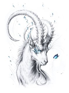 Capricorn Special Edition Signed Fine Art Giclee by JoJoesArt