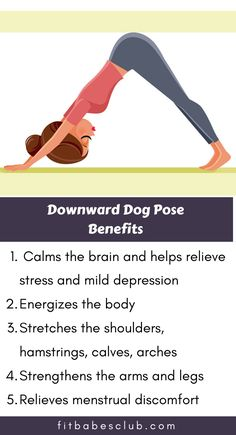 """Downward Dog is one of the quintessential yoga poses for beginners. It has a lot of variation. Click the """"visit"""" button below to see some beginner's yoga poses. Yoga Poses For Beginners, Workout For Beginners, Fitness Workout For Women, Yoga Fitness, Dog Poses, Relaxing Yoga, Health And Fitness Articles, Morning Yoga, Yoga Routine"""