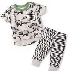 Updates from TesaBabe on Etsy Baby Boy Dino Clothes on SALE at Tesa Babe—Get 'em Now before they're extinct! Baby Outfits, Trendy Boy Outfits, Boys Summer Outfits, Kids Outfits, Baby Boy Summer Clothes, Little Boy Fashion, Baby Boy Fashion, Kids Fashion, Fashion Clothes