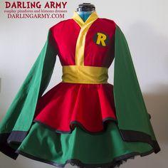 Robin Batman Teen Titans Cosplay Kimono Dress Wa Lolita Accessory | Darling Army