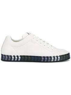 fe2a563b326375 Fendi Contrast Sole Leather Sneakers - Farfetch