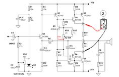 Getting Bias Current of an Output Transistor of an Amplifier Circuit Audio Amplifier, Circuit, Electronics, Projects, Log Projects, Blue Prints, Consumer Electronics