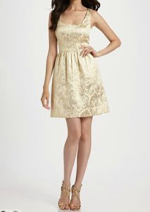 Shoshanna Brocade Dress. Doesn't come in my size. =( Still lovely, though.